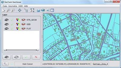 GUI GeoTools GeoViewer